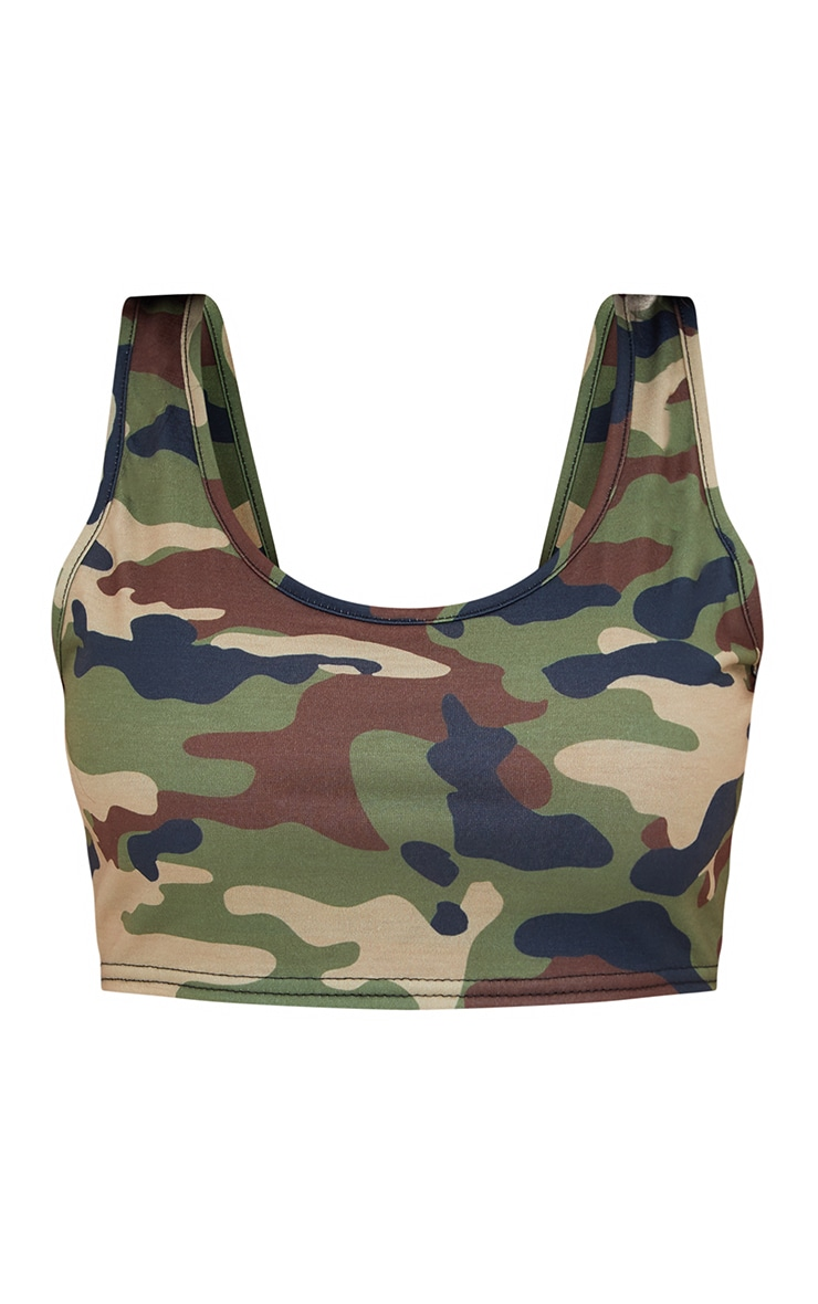 Shape Camo Crop Top 3