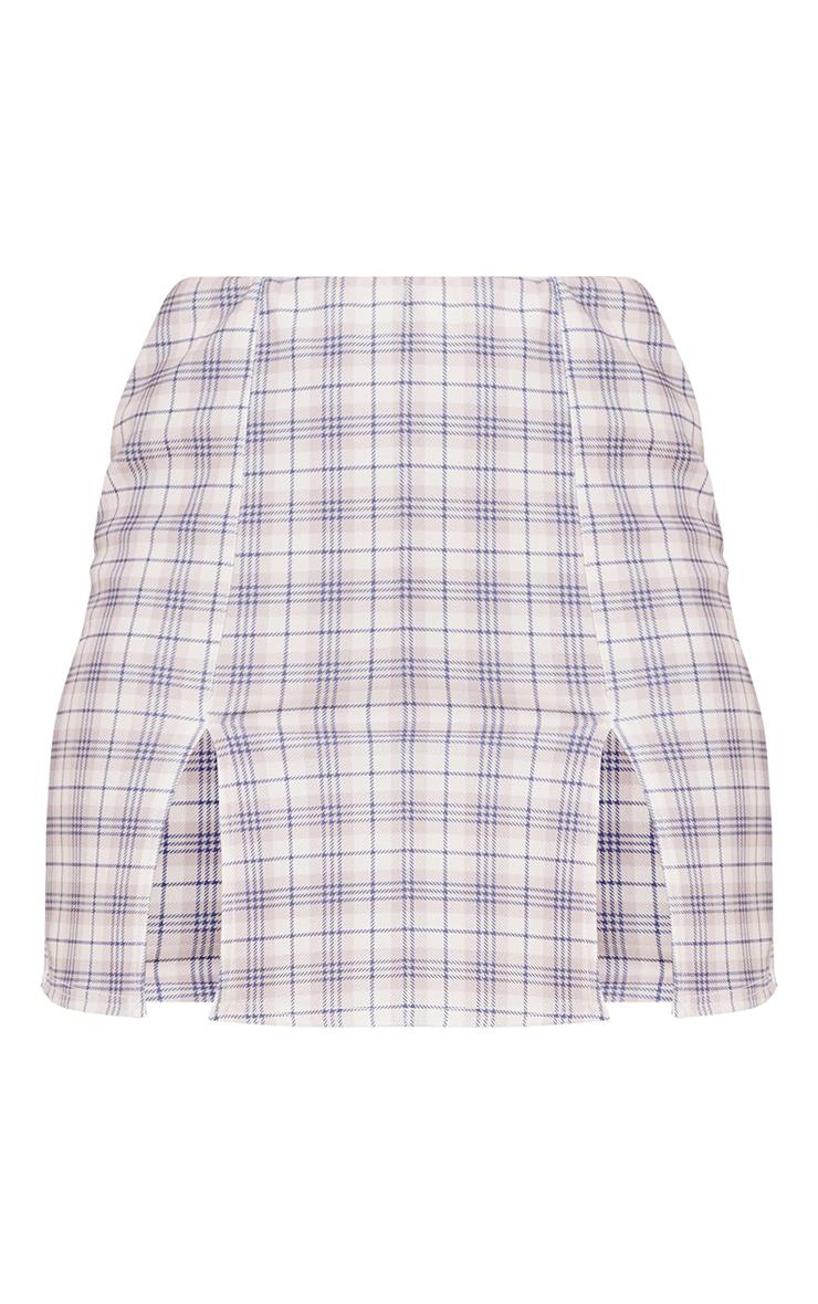 Stone Check A Line Skirt 6