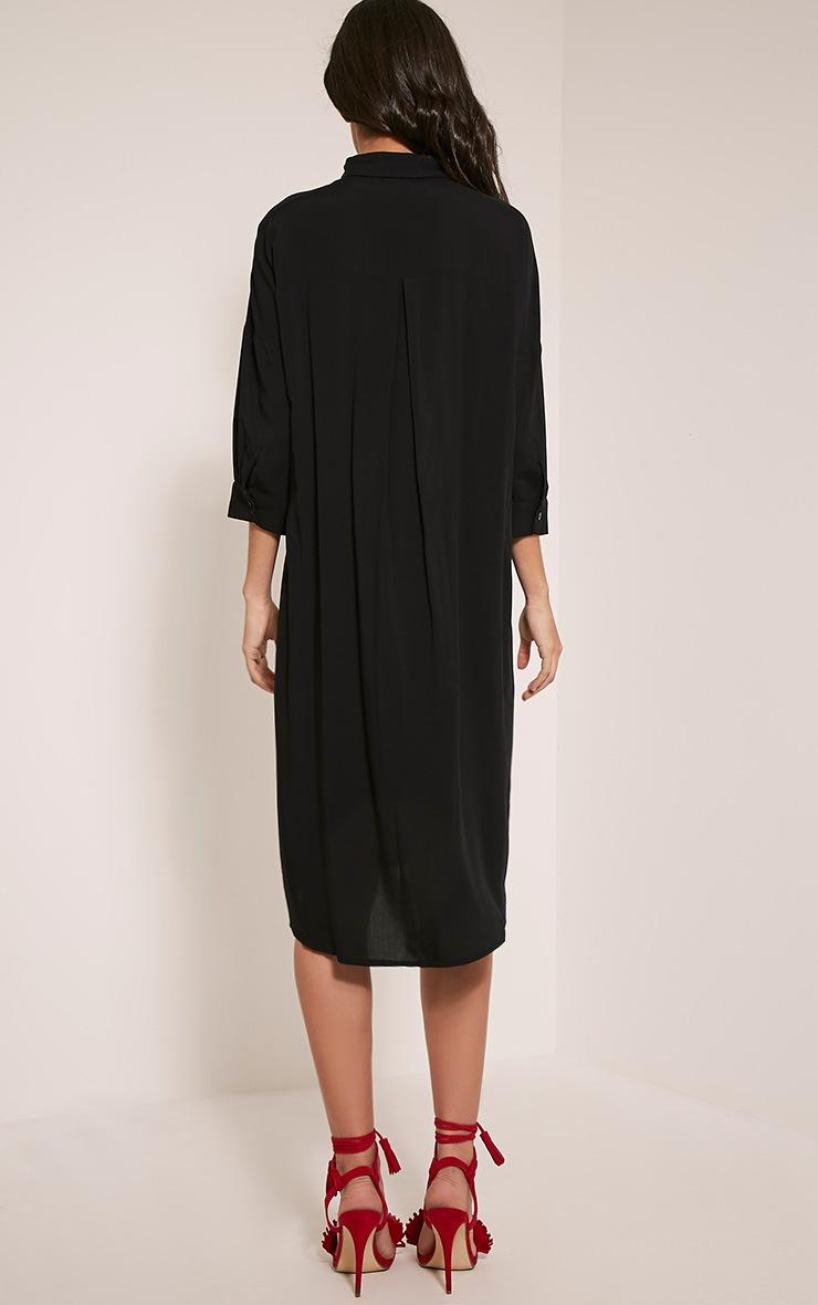Perrin Black Longline Shirt Dress 2