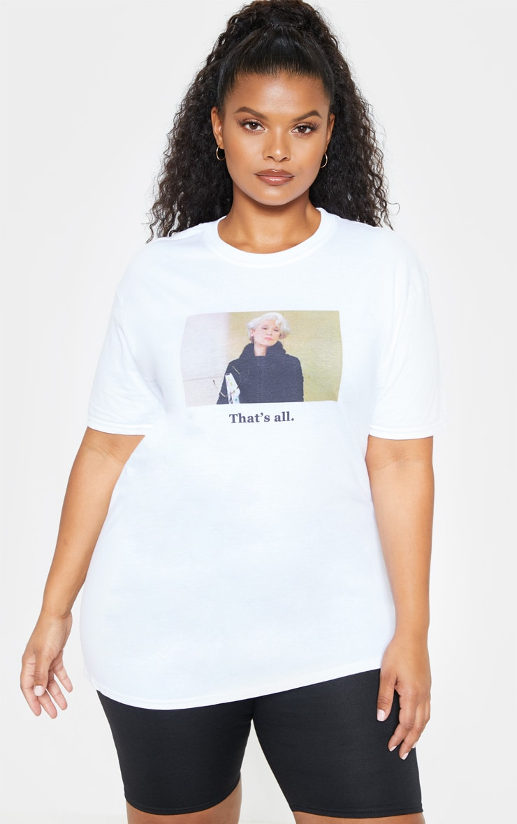 Plus White Devil Wears Prada Slogan T Shirt  1