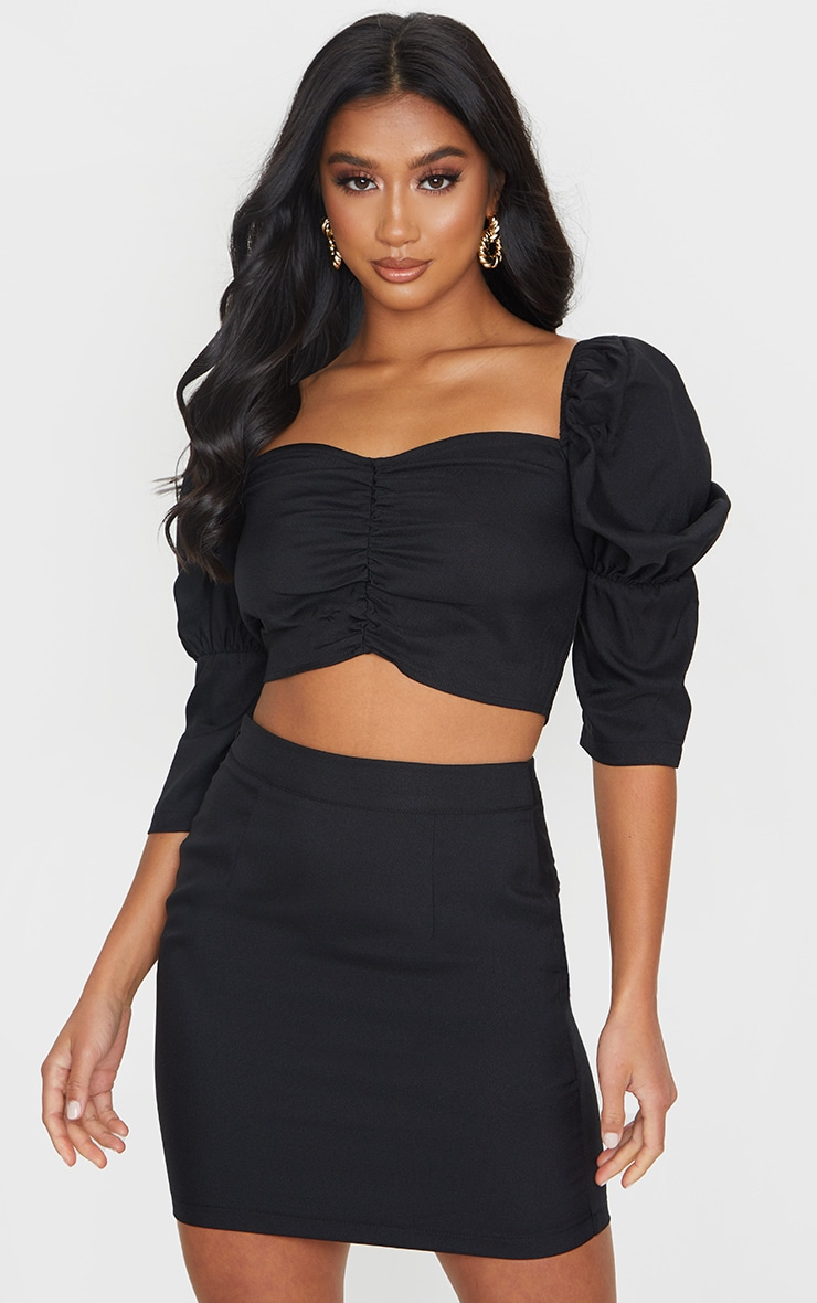 Petite Black Bodycon Mini Skirt 4