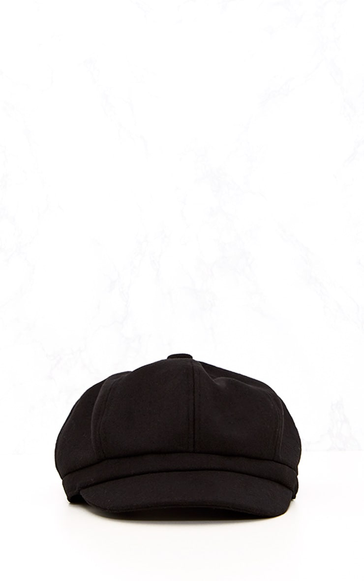 Black Baker Boy Hat 3