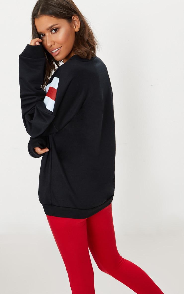 Black Chevron Oversized Sweater  2