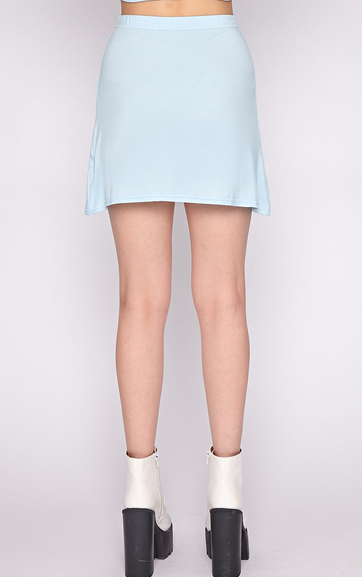 Erika Blue A Line Mini Skirt 2