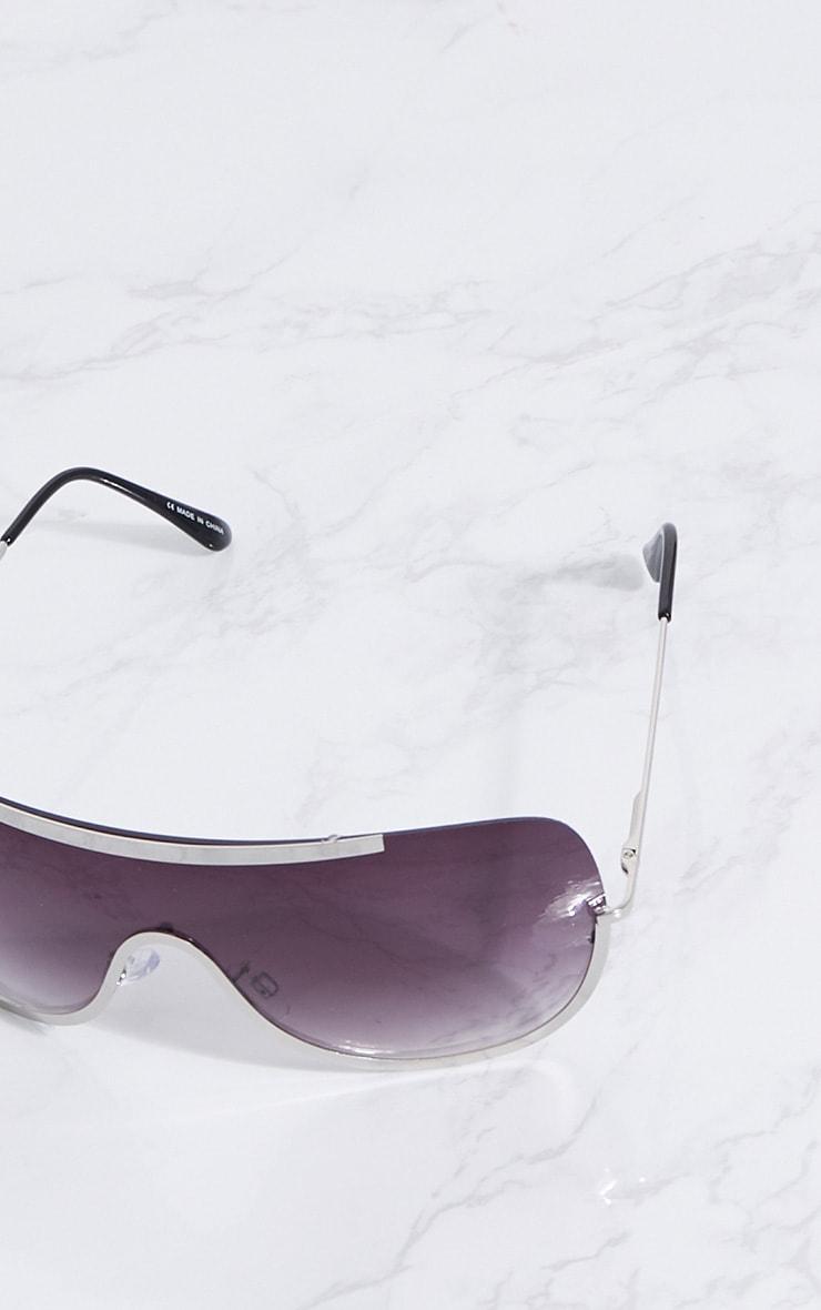Silver Curve Flat Top Sunglasses 3