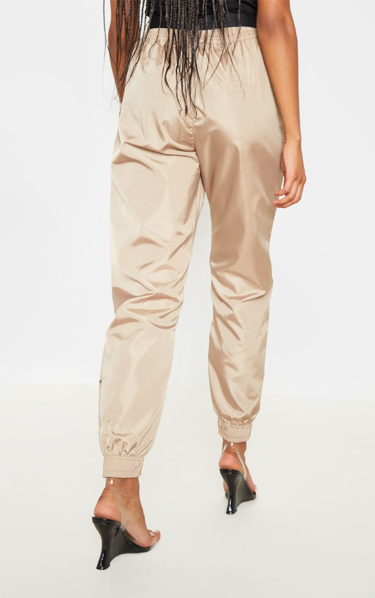 Stone Contrast Stitch Belted Shell Jogger 4