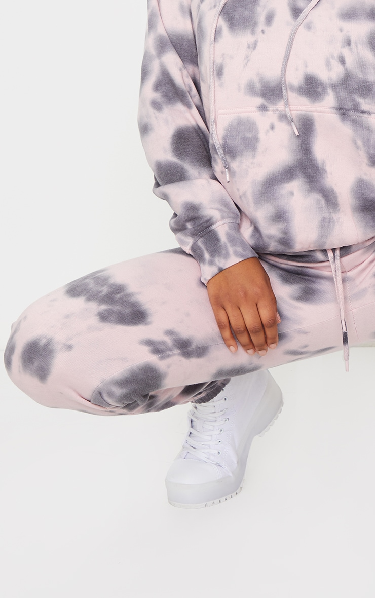 Light Pink Tie Dye High Waist Joggers 4