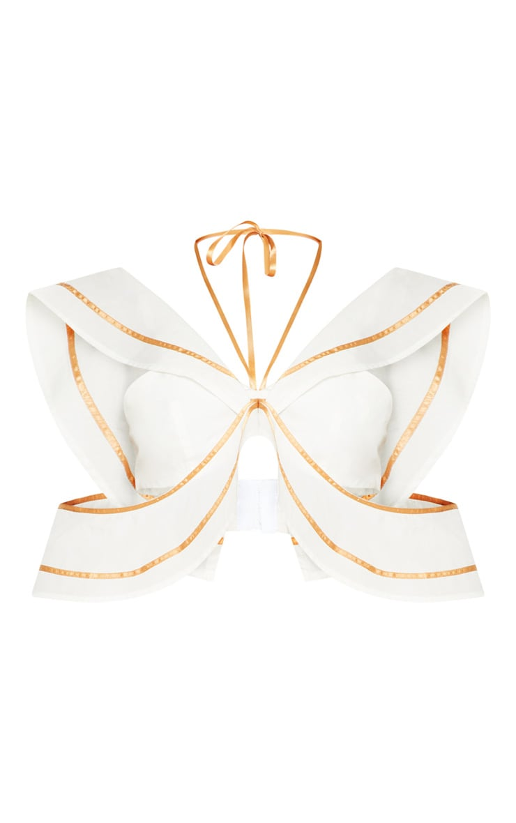 White Frill Bralet With Binding 3