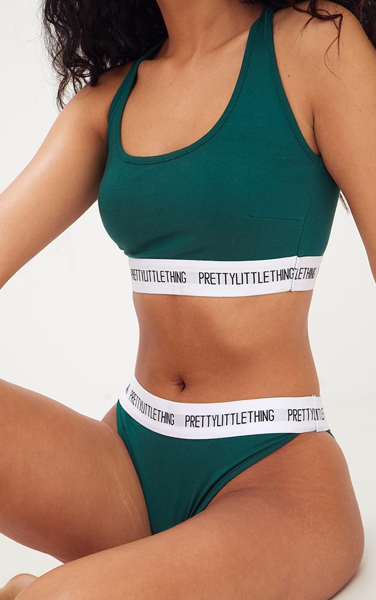 PRETTYLITTLETHING Emerald Green Sports Bra 5