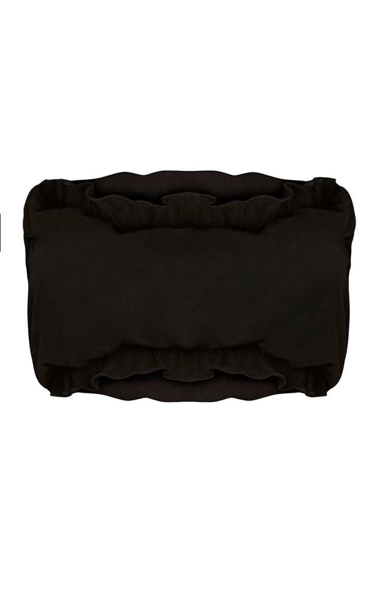 Black Frill Edge Bandeau  3
