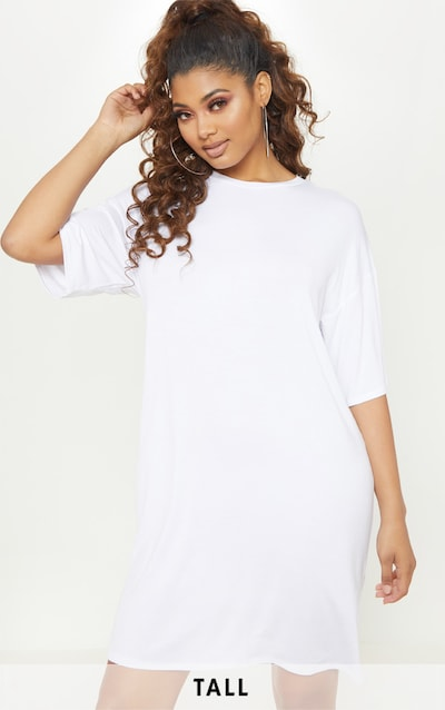 Tall White Oversized T-Shirt Dress