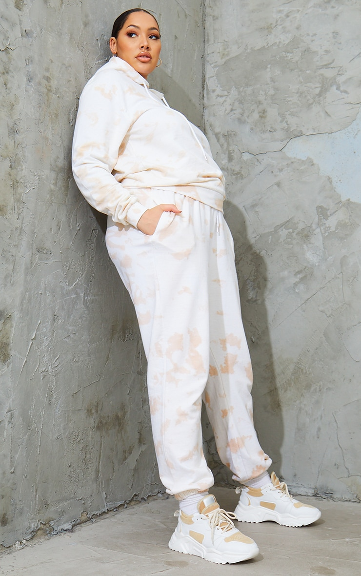 Plus Cream Tie Dye Jogger 1