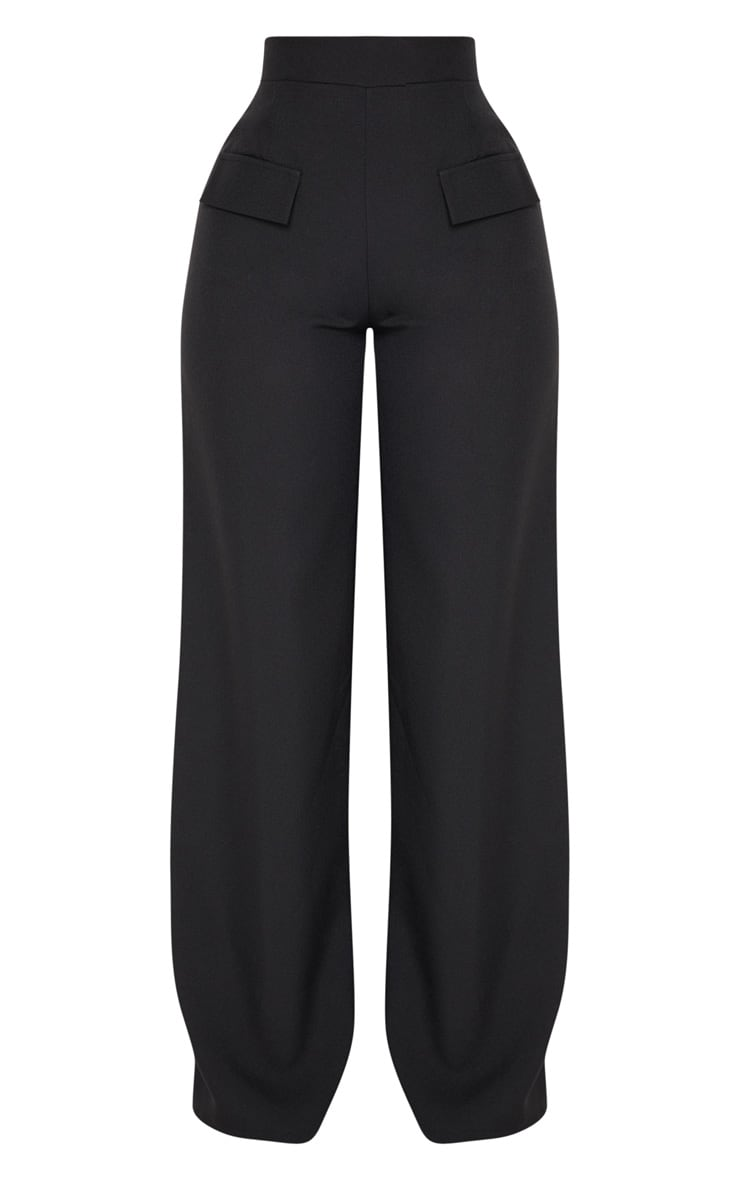 Shape Black Cargo Wide Leg Trouser 3