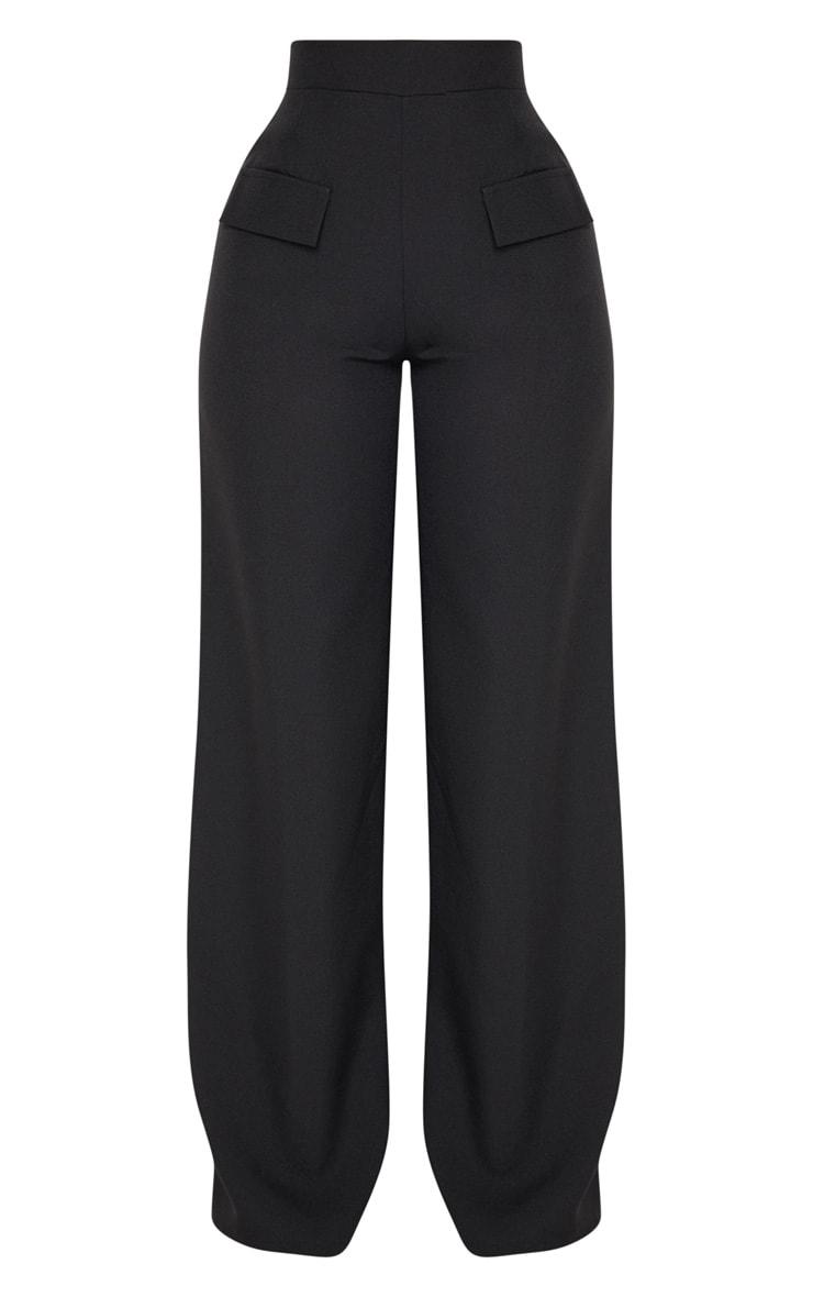Shape - Pantalon évasé noir style cargo 3
