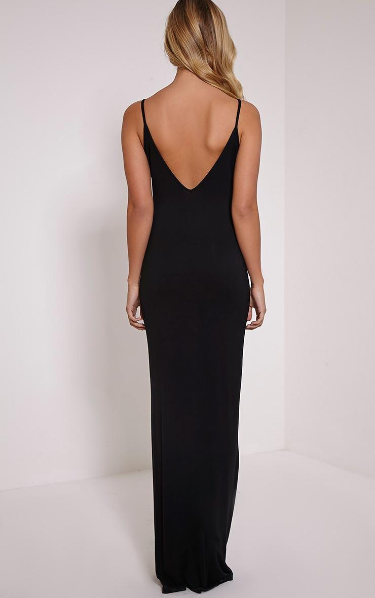 Basic robe maxi à dos échancré noire 2