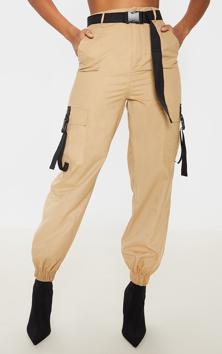 Stone Buckle Detail Belted Cargo Trouser 2