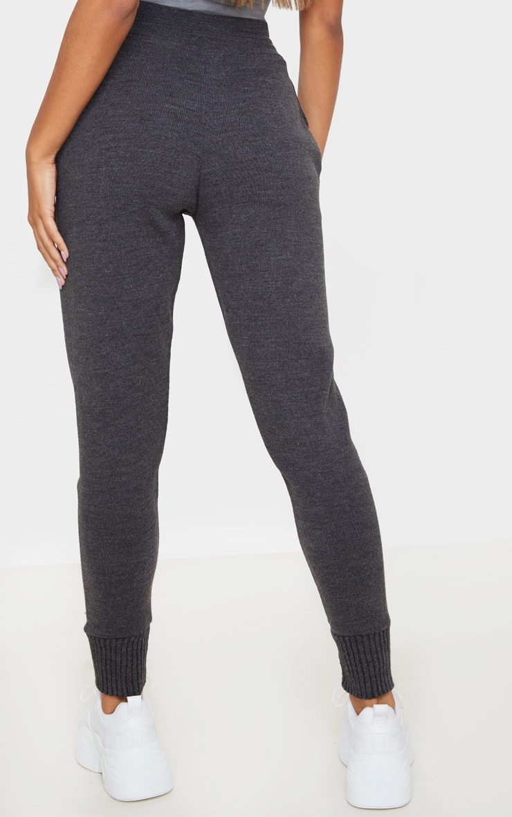 Charcoal Knitted Track Pants 4