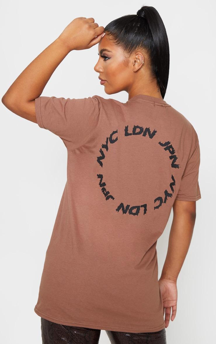 Mocha World Tour State Slogan T Shirt 2