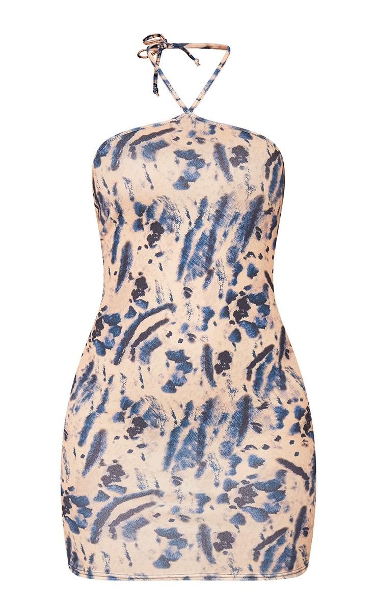 Multi Tie Dye Halterneck Bodycon Dress 6