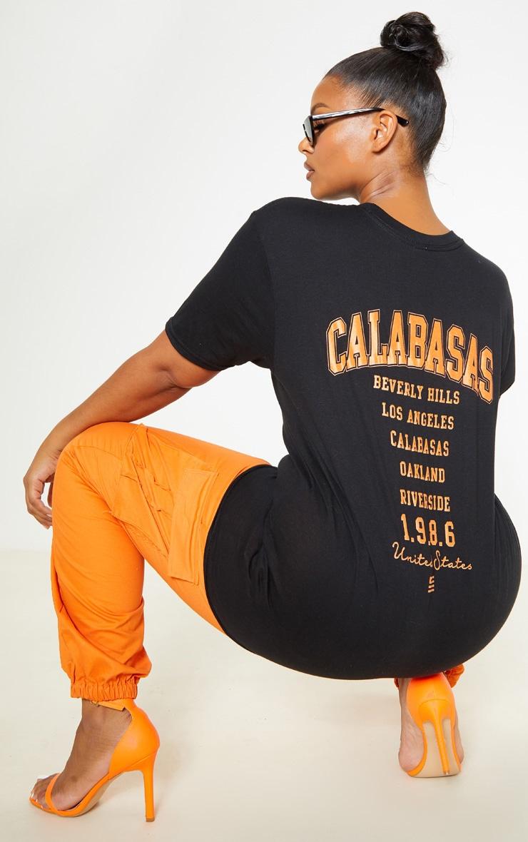Plus Black Calabasas 1986 Slogan Oversized T Shirt 1