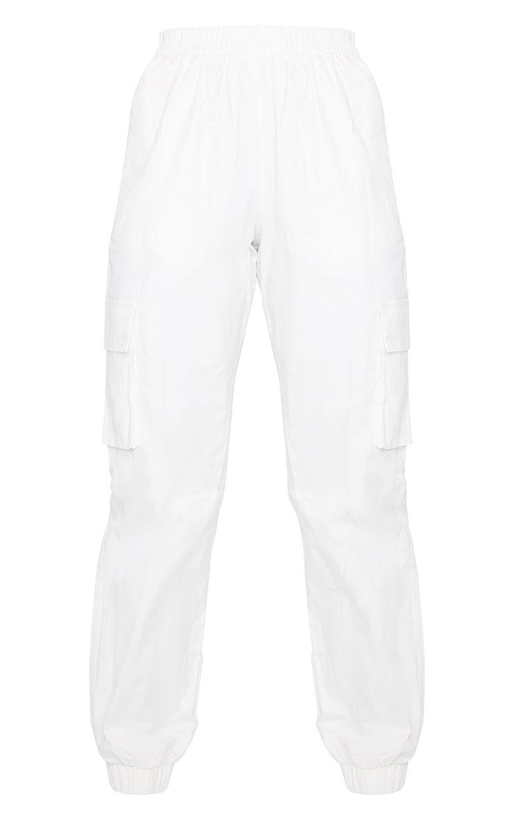 White Cargo Trousers 5