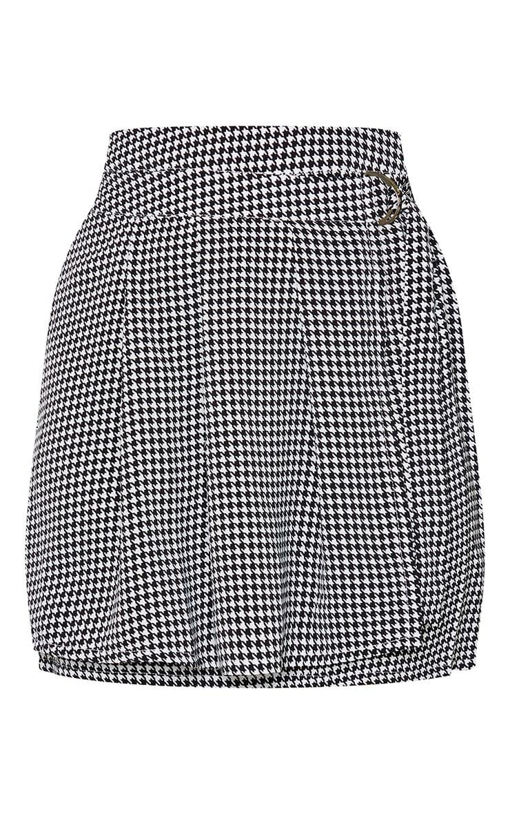 Mini-jupe tissée à imprimé pied-de-poule 6
