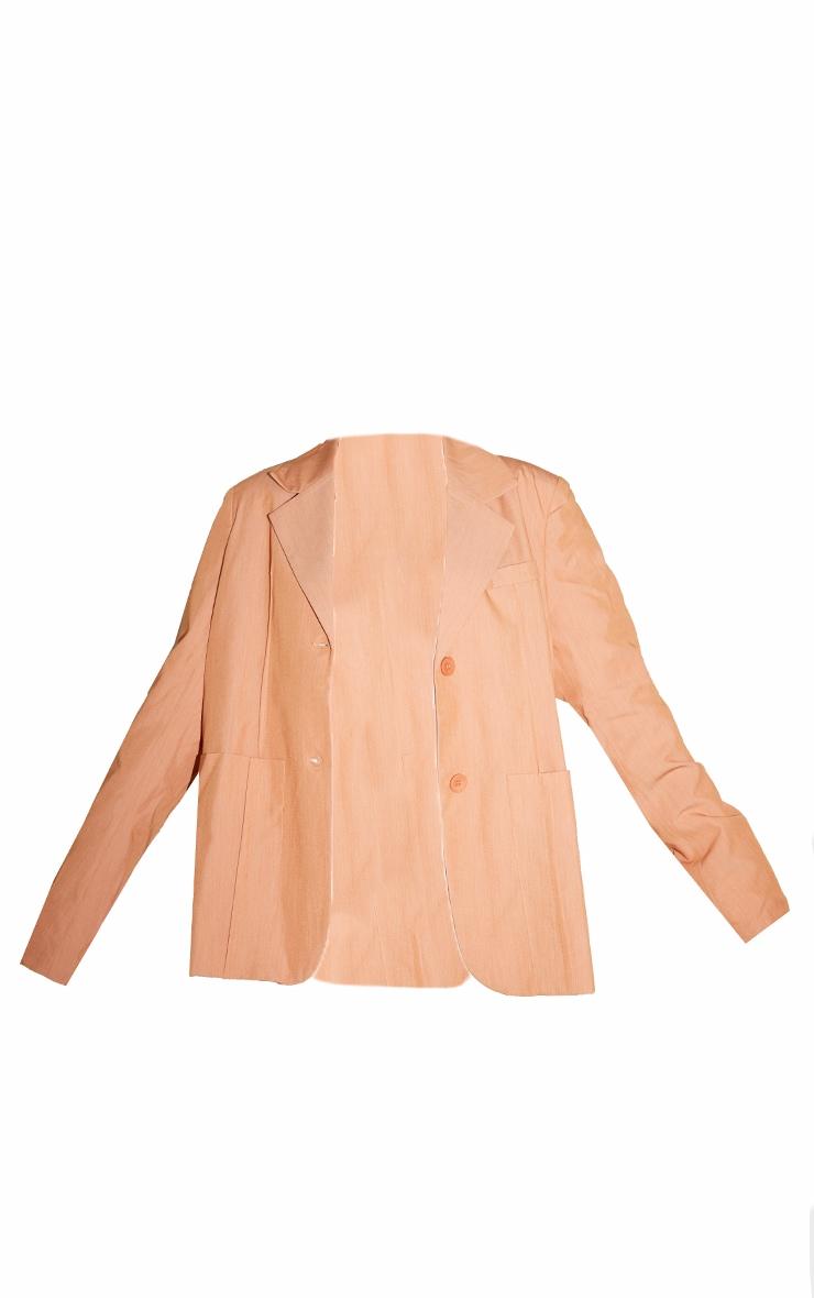 Petite Peach Shoulder Pad Oversized Dad Blazer 5