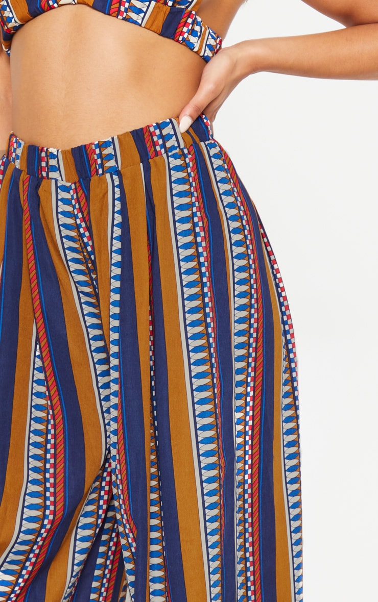 Multi Geo Print Wide Leg Trousers 5