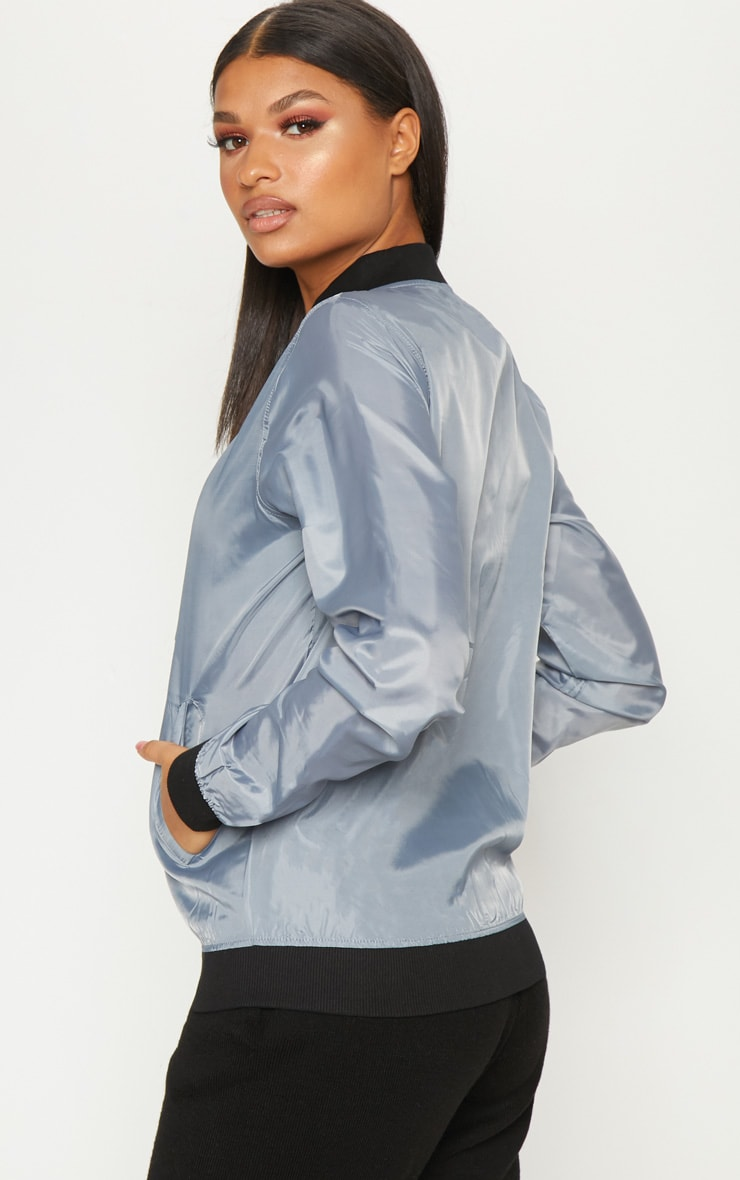 Grey Lightweight Bomber Jacket 2
