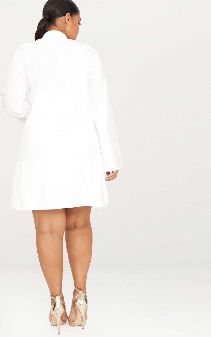 PLT Plus - Blazer long blanc 2