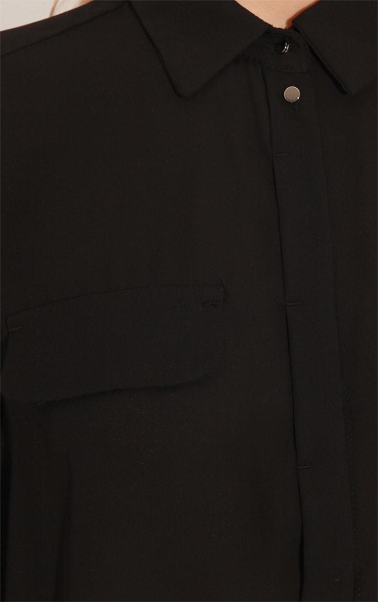 Eboni Black Chiffon Shirt  5