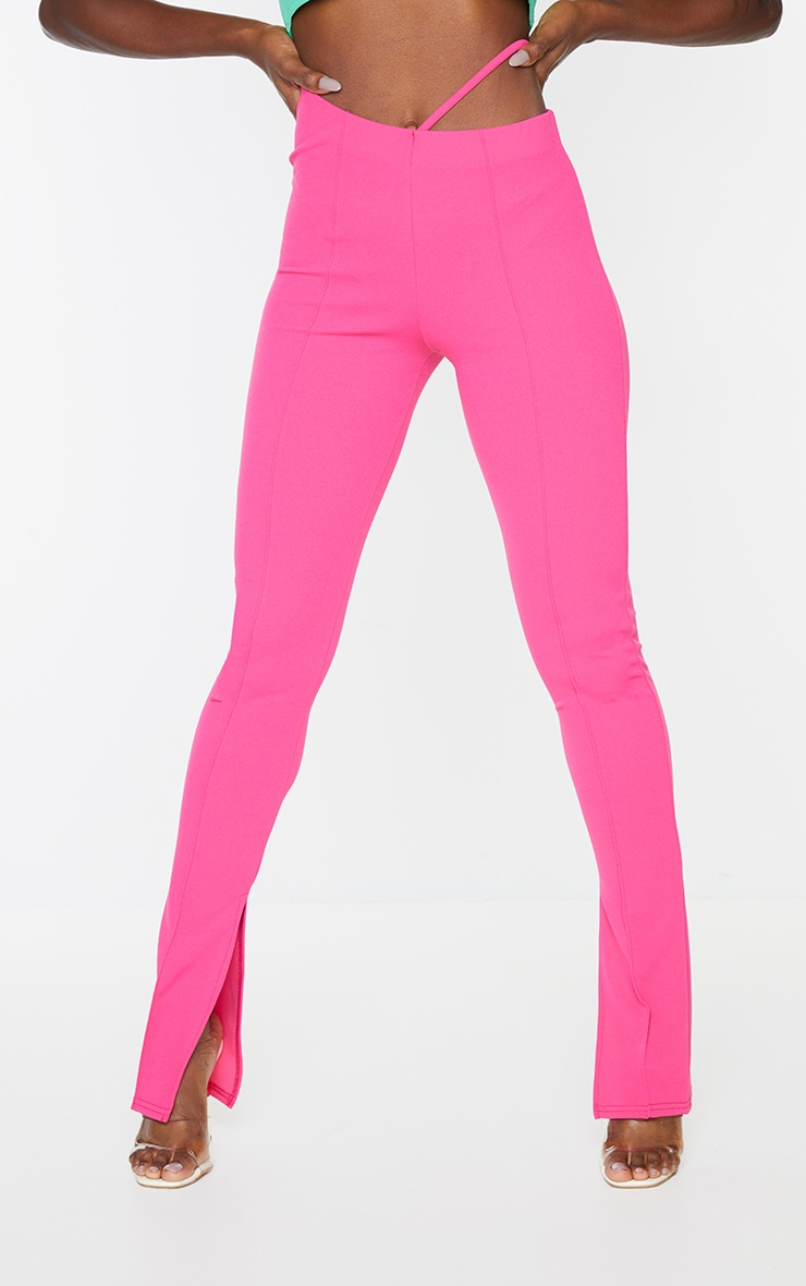 Hot Pink Cut Out Skinny Pants 2