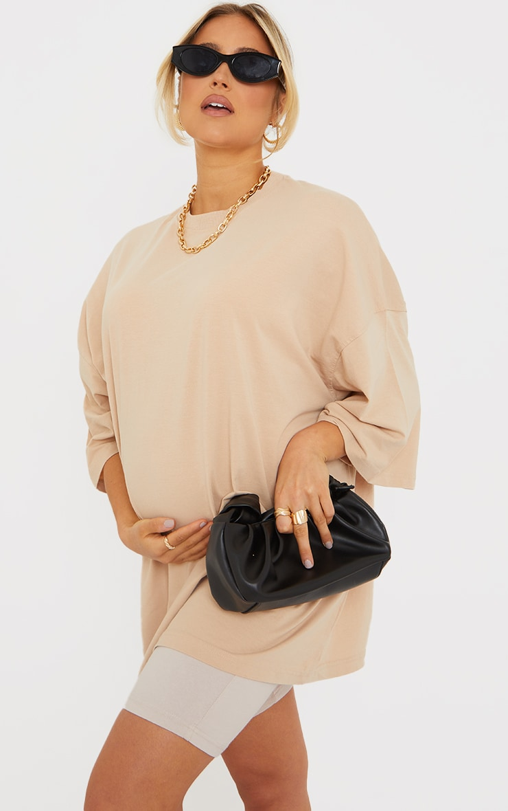 Maternity Stone Oversized Washed Cotton T-Shirt 1
