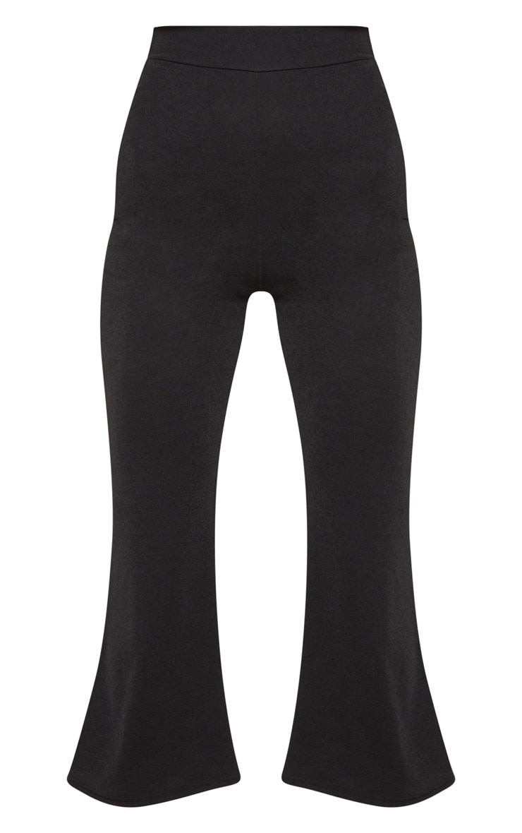 Black Cropped Kick Flare 3