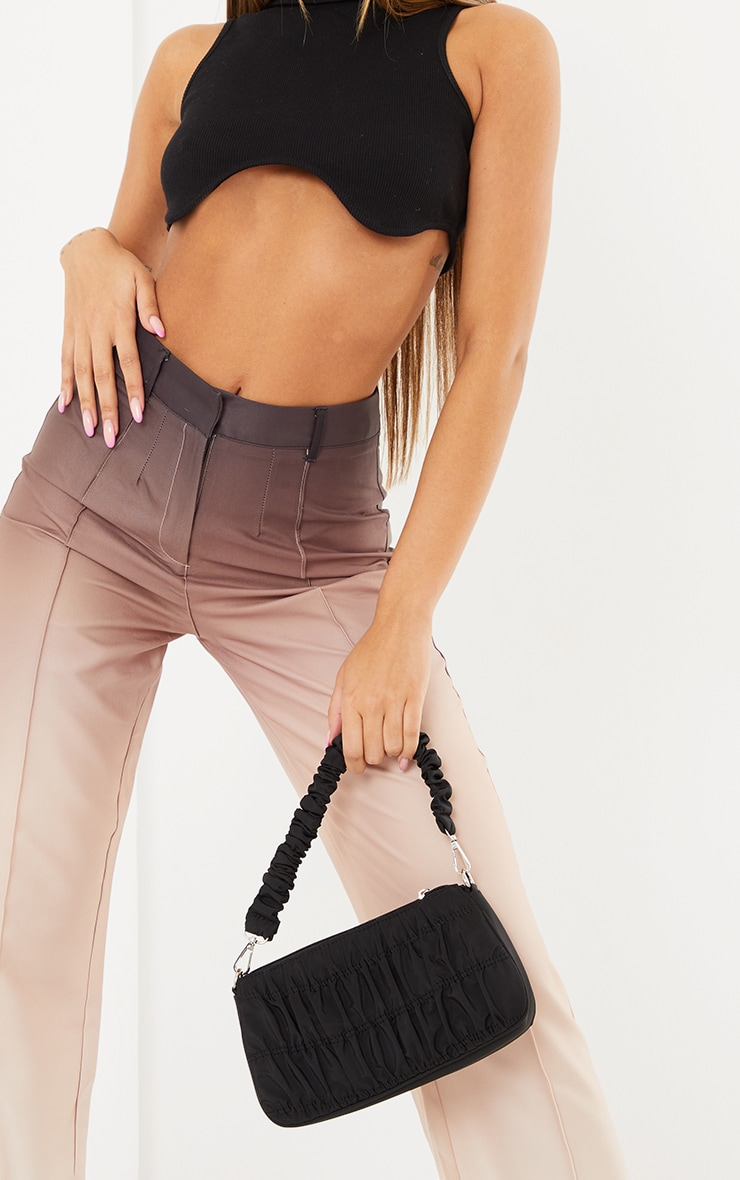 Taupe Ombre Woven Straight Leg Tailored Pants 4