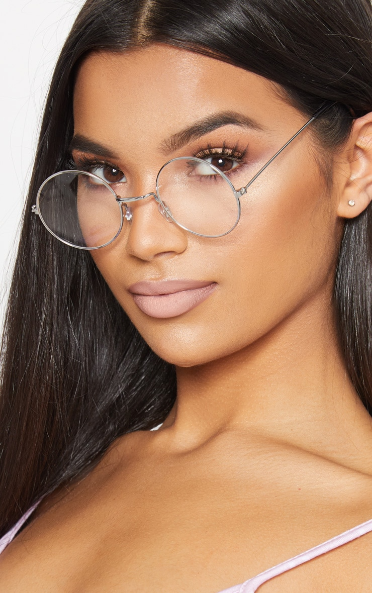 Clear Small Round Sunglasses 2