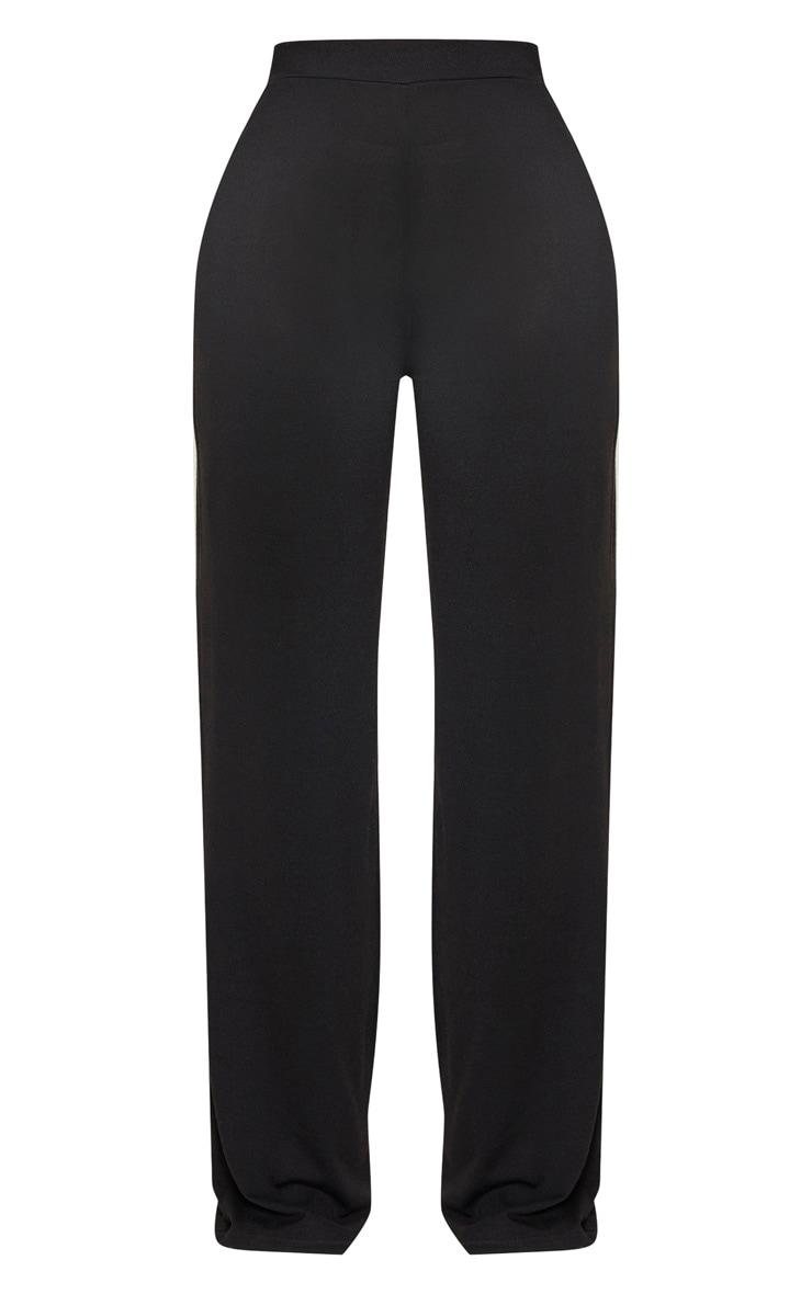 Shape Black Knit Wide Leg Pants 3