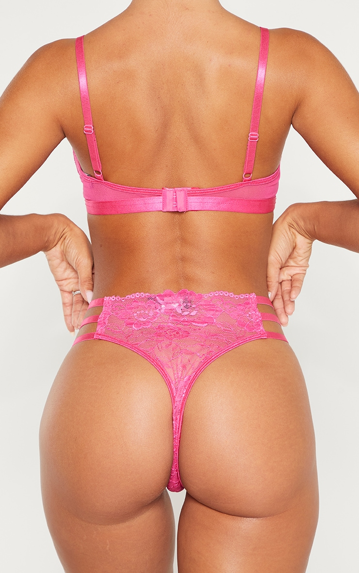 Hot Pink Strapping Detail Knickers 3