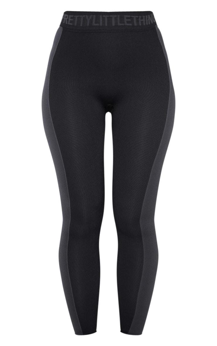 PRETTYLITTLETHING Black Seamless Gym Legging 3