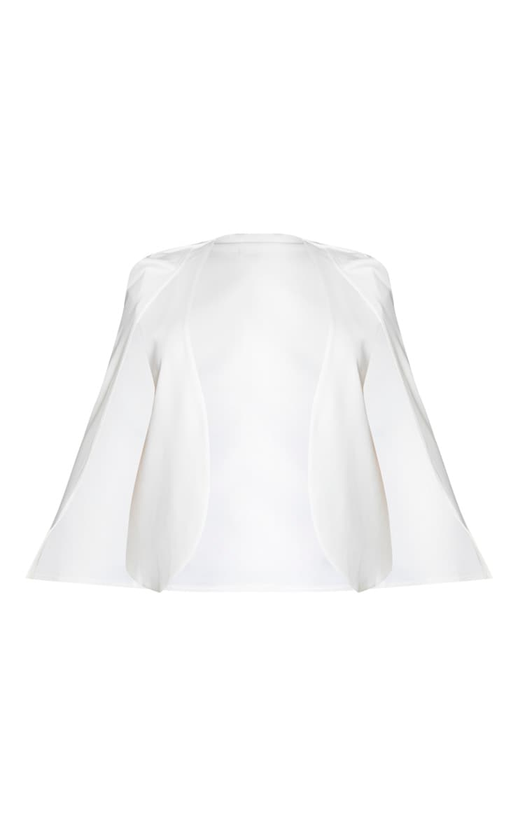 Plus White Cape Blazer 5