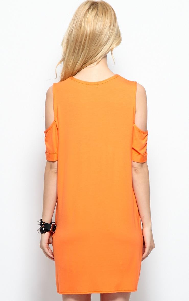 Mahlee Orange Cut Out Shoulder Top 2
