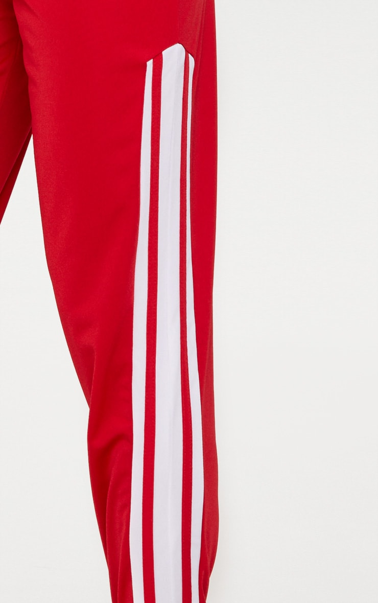 Red Sport Stripe Track Pant 5