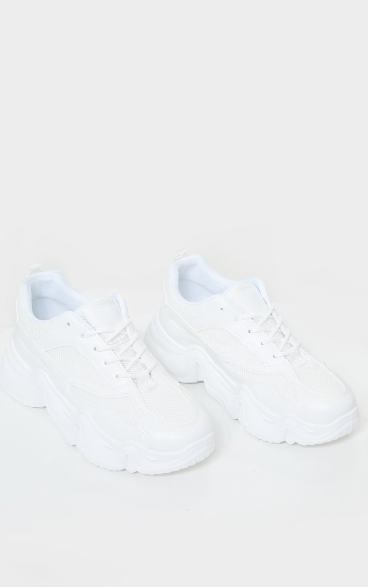 White Wave Sole Chunky Trainers 4
