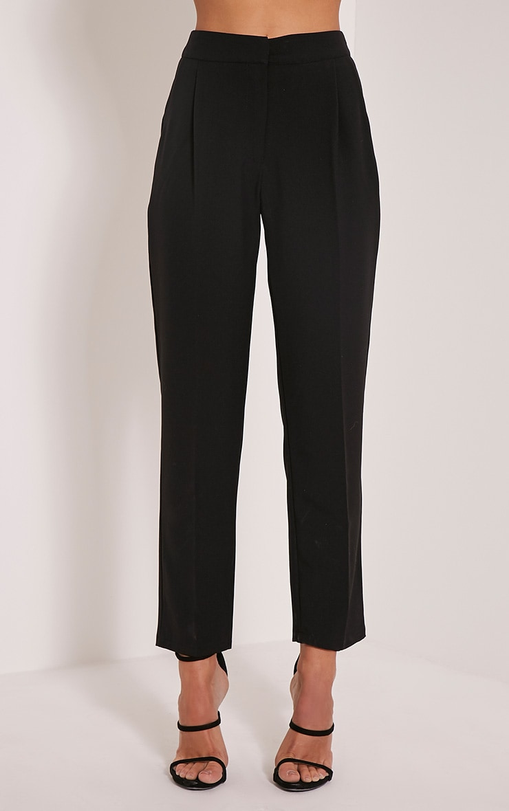 Taryn Black Cigarette Trousers 2
