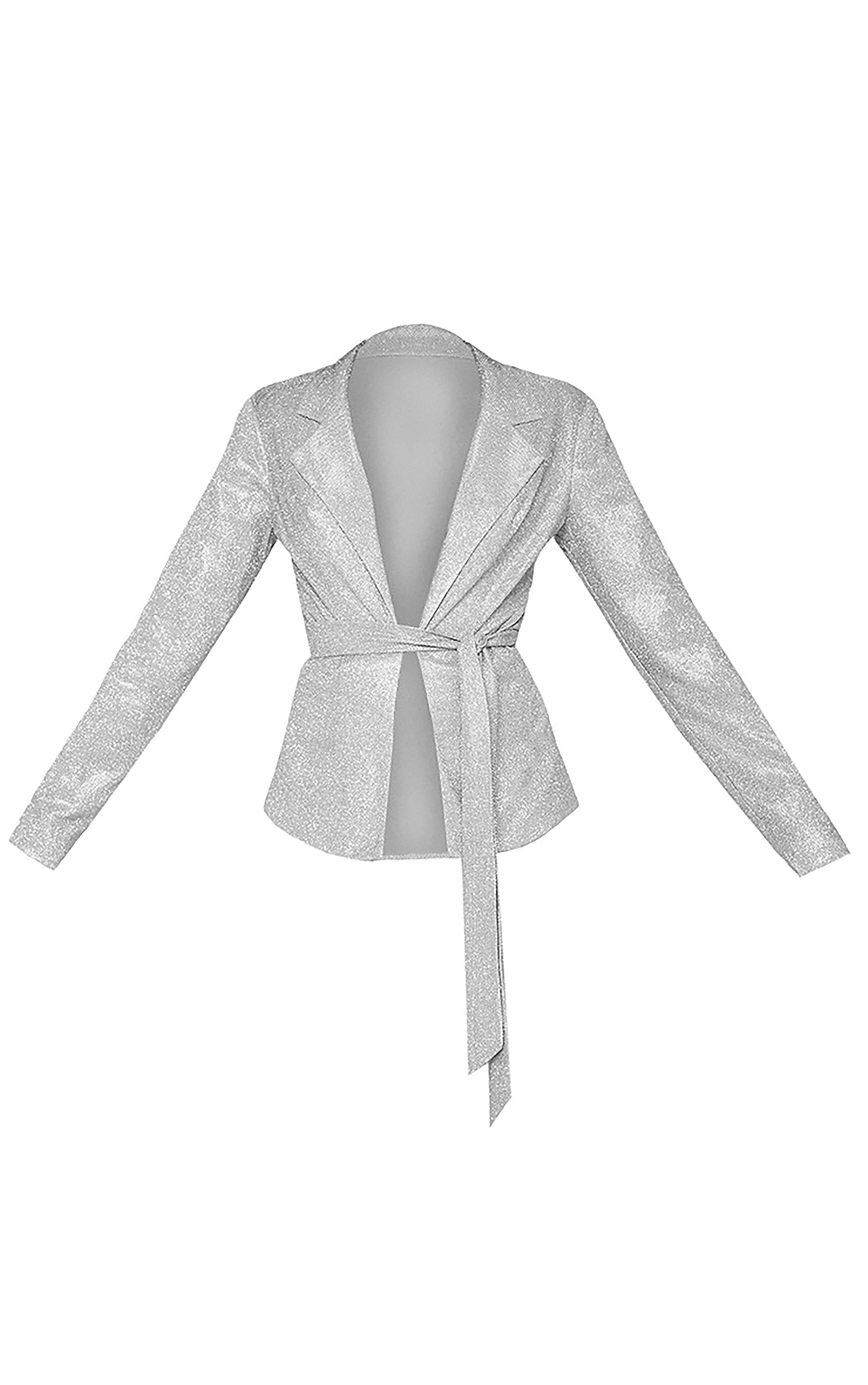 Silver Tie Waist Jacket 4