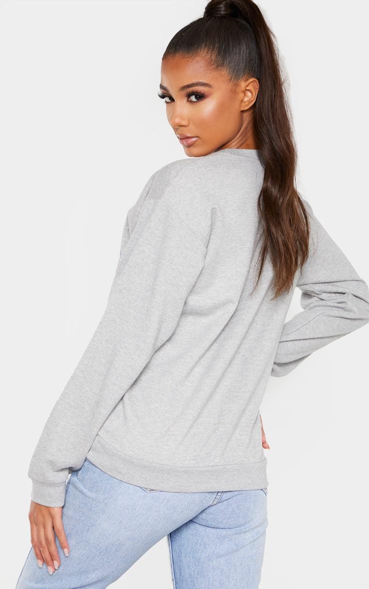 Grey Montana Slogan Sweater 2