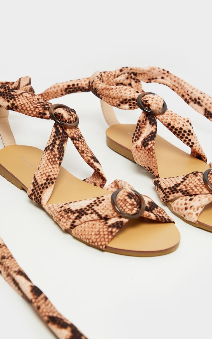 Snake Tortoise Ghillie Lace Up Sandal 4