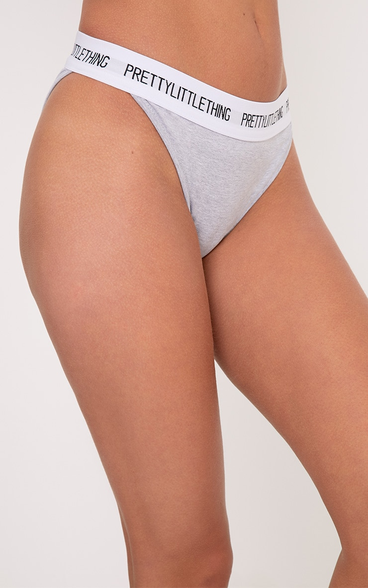 PRETTYLITTLETHING Grey Panties 5