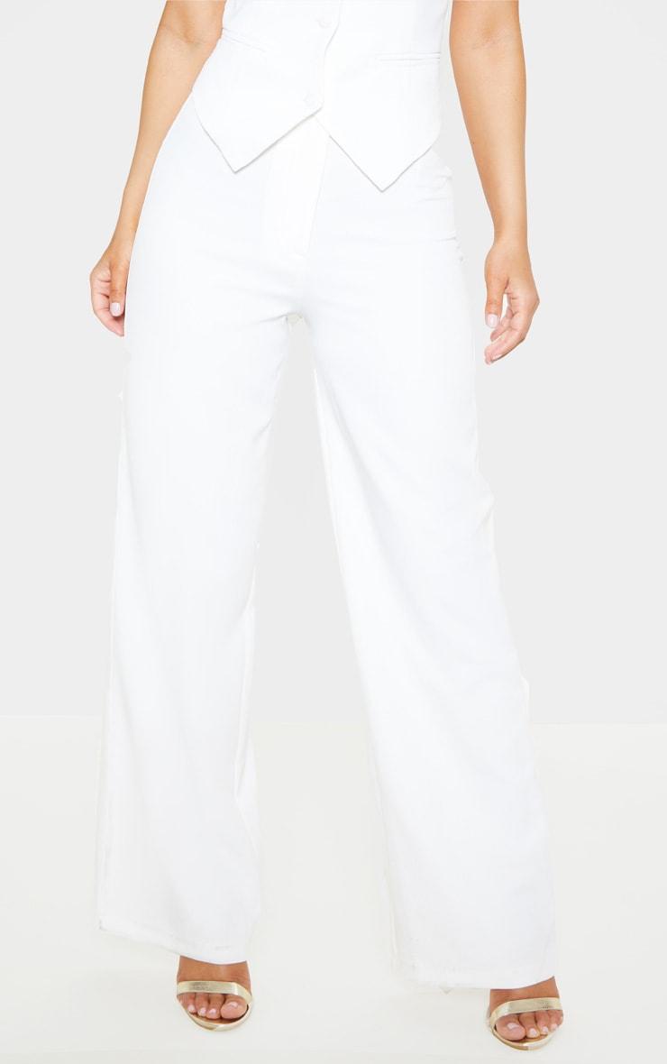 Petite White Tuxedo Trousers 2