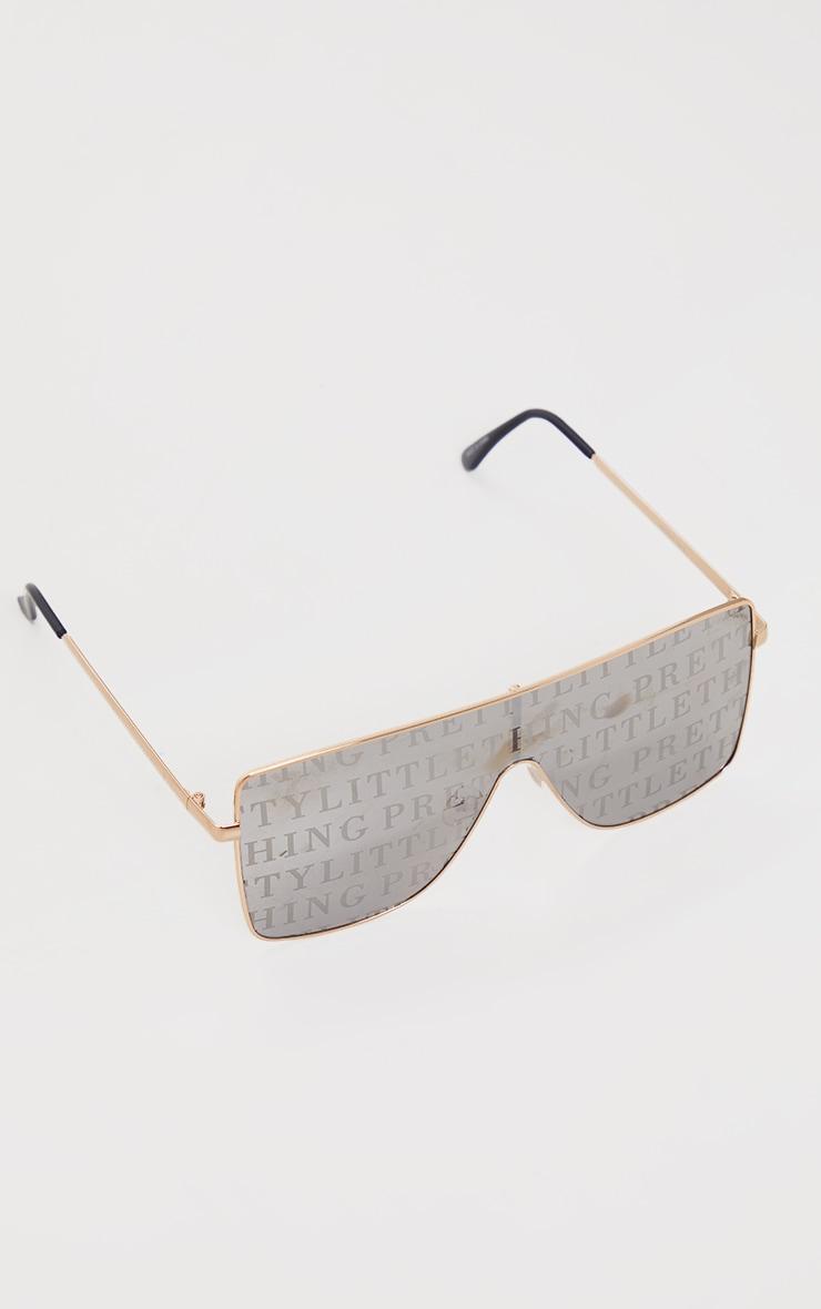 PRETTYLITTLETHING Silver Lens Square Frame Sunglasses 2